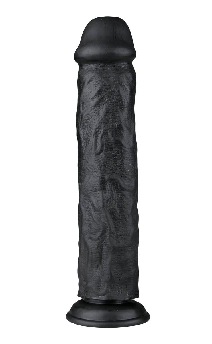 Realistické dildo EasyToys čierne 28,3 cm