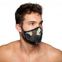 Rúško Addicted AC087 Camo Mask maskáčové zelené