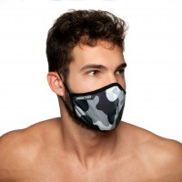 Rúško Addicted AC087 Camo Mask maskáčové šedé