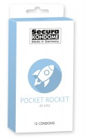Kondómy Secura Pocket Rocket 12 ks