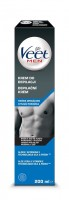 Depilačný krém Veet Men Silk & Fresh pre citlivú pokožku 200 ml