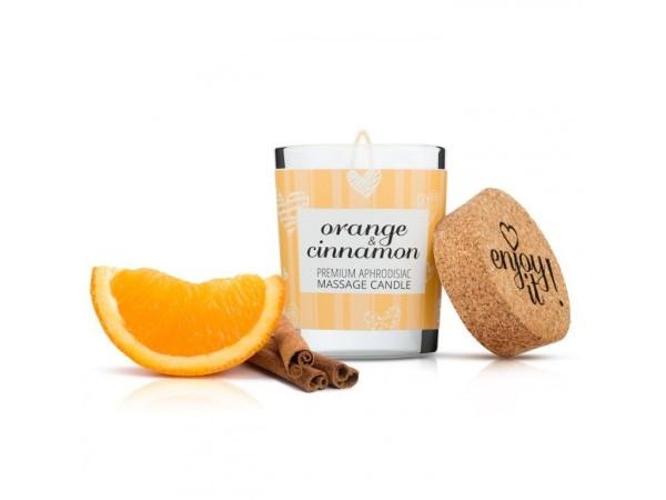 Masážna sviečka Magnetifico Enjoy it! Orange and Cinnamon 70 ml