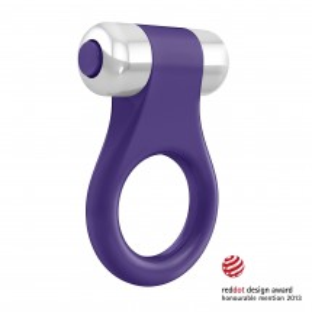 Vibračný erekčný krúžok OVO B1 fialový