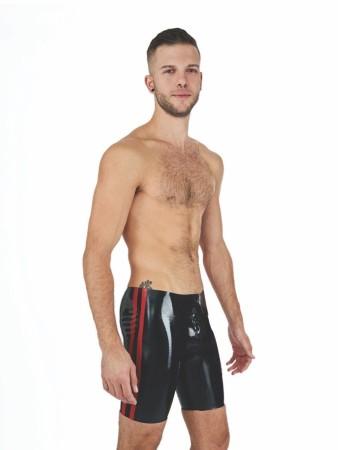 Gumové kraťasy Mister B Rubber Fucker Shorts čierno-červené