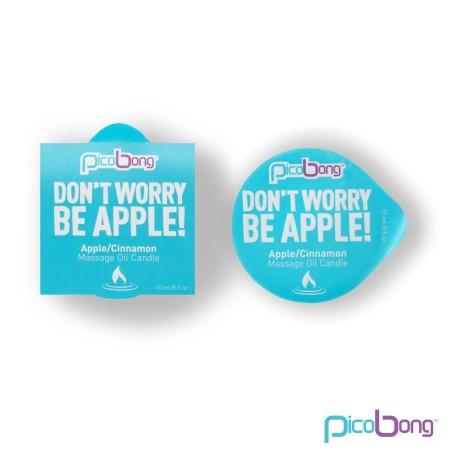 Masážna sviečka PicoBong Don't Worry Be Apple! 15 ml