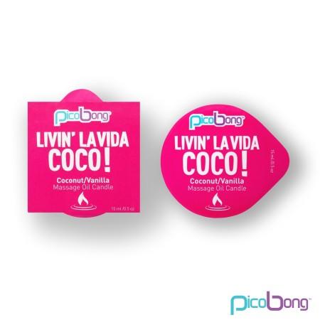 Masážna sviečka PicoBong Livin' La Vida Coco! 15 ml
