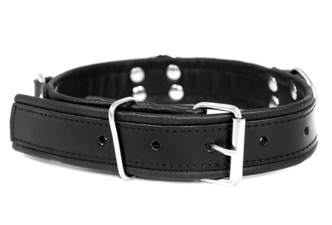 Kožený obojok Slave4master Basic Collar