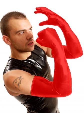 Latexové rukavice k ramenám M&K Shoulder Gloves červené